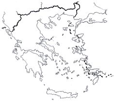 Greece Map, Map Worksheets, Map Outline, 28th October, Printable Maps, Always Learning, Archaeological Site, Cartography, World Heritage Sites