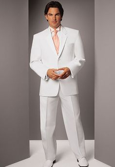 White (Mystique) Tuxedo by Jean Yves  The tux