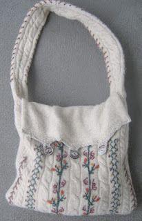 repurposed wool sweater = purse