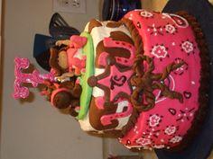 Cowgirl baby shower cake - Kori's shower