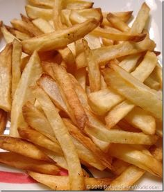 Homemade French Fries made with the Philips AirFryer - NO DEEP FAT FRYING!