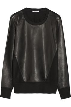 Leather and wool sweatshirt @CO DE + / F_ORM