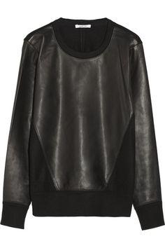 Leather and wool sweatshirt Alexander Wang