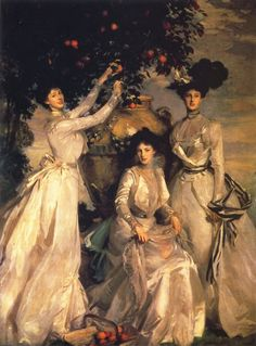 John Singer Sargent. Victorian Beauty. 1902 The Acheson Sisters oil on canvas 273.6 x 200.6 cm Chatsworth House, Derbyshire UK