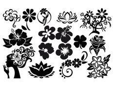 Fichiers gratuits pour Silhouette Portrait & Caméo - 16 motifs de fleurs