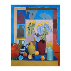 Orange, House Plants, Still Life, Art Work, Collage, Artists, Inspiration, Instagram, Painting