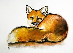RED FOX art print by JCStilesArt on Etsy, $20.00