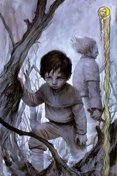 The cover to Fables art by James Jean Comic Book Covers, Comic Books, Comics Gratis, Fables Comic, Sad Paintings, Monochromatic Art, Comic Art Community, Fantasy Art, Fairy Tales