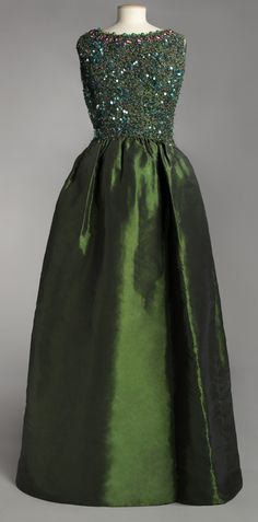 I would definitely wear this if I had somewhere to wear it.. House of Balenciaga Evening Dress, circa 1960