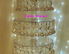 Glamorous 5 Tier Crystal Valance & Prism Cupcake by ForbesFavors
