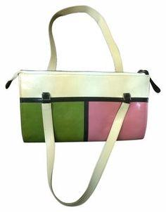 38762c7e07 Kate Spade Multi - Pink Green Bone Black Leather Shoulder Bag