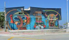 Mural alusivo al Carnaval de Barranquilla, barrio Abajo