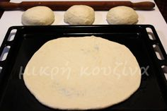 Ζύμη για λεπτή, ιταλική πίτσα - μικρή κουζίνα Bread, Cheese, Snacks, Recipes, Food, Appetizers, Breads, Baking, Eten