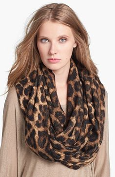 MICHAEL Michael Kors 'Rochelle' Animal Print Infinity Scarf available at #Nordstrom