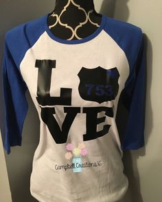 Police Love Shirt - Police Shirt - Support Police Shirt - Police Support Shirt