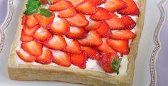 Τάρτα με λευκή σοκολάτα, τυρί κρέμα και φράουλες