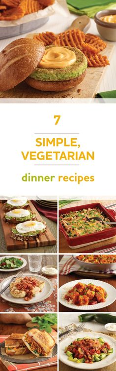 Check out these seven simple vegetarian recipes. Try one for dinner tonight!