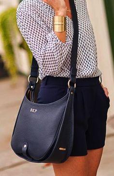 Gorgeous monogrammed saddle bag by Gigi New York - 30% off! http://rstyle.me/n/vpytsnyg6
