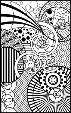 InSPIRALed Adult Coloring Page:
