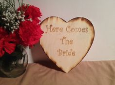 Wedding Decoration  Photo Prop  Here Comes The by TheSmilinBride, $20.00
