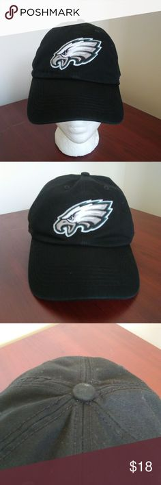Philadelphia Eagles Baseball Cap Black White- 3XL Philadelphia Eagles NFL  baseball cap by
