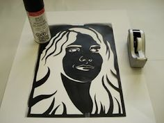 step-by-step of stencil portraits