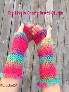 Style fashion fingerless gloves  from Basia's Hat Factory / Positively Crazy Craft Studio in San Francisco/ custom orders #crochetSF