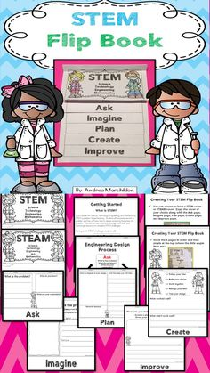 STEM Flip Book to use with any STEM Challenge Activity Grades 1 - 3