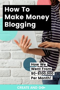 We started out making no money  blogging, and now we make more than $100,000 every month. We'll tell you how we did it, and how you can do the same.  #createandgo #makemoneyblogging #sixfigureblogger Make Money On Amazon, Make Money Online, How To Make Money, Blog Writing, Writing A Book, Writing Tips, Small Business Organization, Animals Planet, Counseling Office
