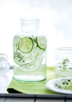 Fresh Cucumber Infused Water