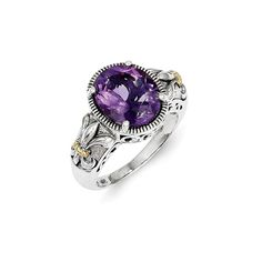 Perfect Jewelry Gift Sterling Silver Amethyst Ring -- Hope that you actually do enjoy the picture. (This is an affiliate link) Amethyst Stone, Purple Amethyst, Jewelry Gifts, Fine Jewelry, Gold Material, Statement Rings, Vintage Rings, Band Rings, Gifts For Women
