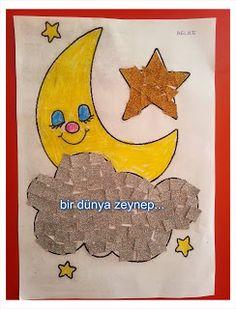 #preschool #okulöncesi #kindergarten #sanatetkinliği #kidscraft #cloud #aydede #gecegündüz