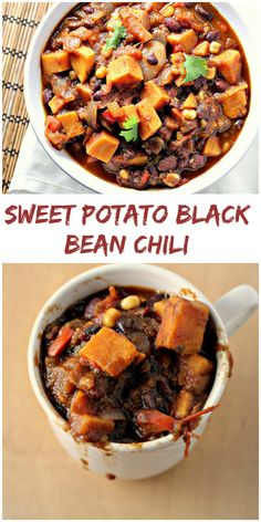 Healthy Vegetarian Sweet Potato Black Bean Chili