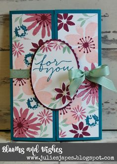 Julie Kettlewell - Stampin Up UK Independent Demonstrator - Order products 24/7: Blooms and Wishes