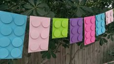 Building Block Banner, Birthday Garland, Birthday Banner Lego Garland Legos Birthday Lego Banner by CarismaticDesigns Lego Friends Birthday, Lego Friends Party, 9th Birthday Parties, Lego Birthday Party, 8th Birthday, Lego Birthday Banner, Lego Friends Cake, Birthday Ideas, Happy Birthday