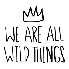 """Leah Flores """"Wild Things"""" Wall Decal - guest bath?"""