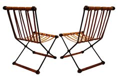One Kings Lane - Industrial Chic - Rope & Wrought Iron Chairs, Pair