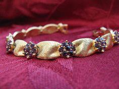Vintage Crown Trifari Goldtone Ribbon Braclet by ToadSuckTreasures, $40.00