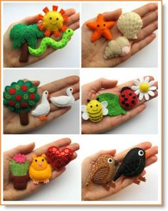 Make some mini felt animals and other cute felt stuff! :) These free patterns are designed to co-ordinate with the chapters of my book, Super-Cute Felt Animals --- Bugs and Fishes by Lupin: All the Free Tutorials to Accompany Super-Cute Felt Animals Más Felt Diy, Felt Crafts, Fabric Crafts, Sewing Crafts, Felt Animal Patterns, Stuffed Animal Patterns, Felt Patterns Free, Felting Tutorials, Free Tutorials