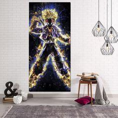 #DBZ #Future #Trunks #Angry #Galaxy #Background #3Pc #Canvas #Print – #Saiyan #Stuff