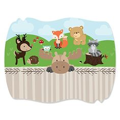 Woodland Creatures - Squiggle Party Sticker Labels - (1 Sheet of 16) Big Dot of Happiness http://www.amazon.com/dp/B00N0DOI7U/ref=cm_sw_r_pi_dp_th5Vwb11QPP1A