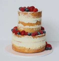 A delicious vanilla and berry naked cake. So fresh. So light. So pretty. Email carol@deliciouslyyours.com.au and chat to me about your cake xxx
