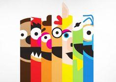 great tee design from threadless The Muppet Show, Muppet Babies, Jim Henson, Pebble Painting, Diy Art, Bunt, Character Art, 3 D, Geek Stuff