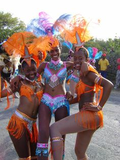Carnival! Check out this webpage, with photos of the parade, Jouvert Monday Sandy Ground packed with boats 3-deep and jammed with people, this event in August in HUGE.