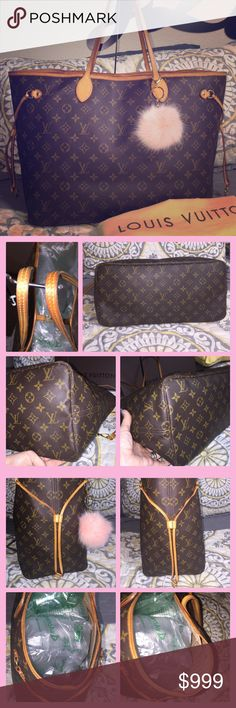 Louis Vuitton Neverfull GM Monogram XLarge tote Authentic! No cracks. No stains. Vachetta is patina. DateCode TH1018. ️️ Louis Vuitton Bags Totes