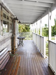 I'd love a country home with a verandah like this one day.