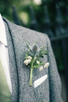 Herringbone and Sage - Unique Groom Looks You'll Both Love - Photos