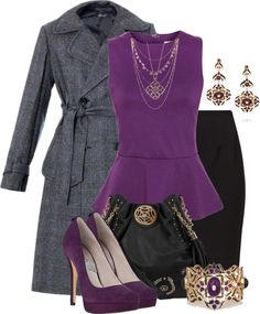 A fashion look from February 2013 featuring glamorous tops, tweed wool coat and vero moda skirts. Browse and shop related looks. Work Fashion, Fashion Looks, Fashion Group, Fashion Ideas, Fashion Jewelry, Women's Fashion, Classy Outfits, Cool Outfits, Church Attire
