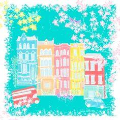 Arts Graphiques | Julie Zeitline | Nothing Hill Le romantique | Tirage d'art en série limitée sur L'oeil ouvert