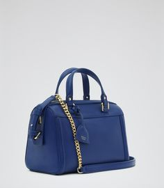 Womens Serpentine Structured Mini Bag - Reiss Lido
